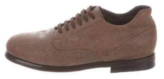 Issey Miyake Leather Round-Toe Derby Shoes