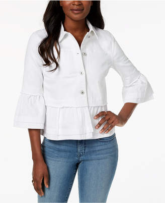 Style&Co. Style & Co Petite Tiered-Hem Denim Jacket, Created for Macy's