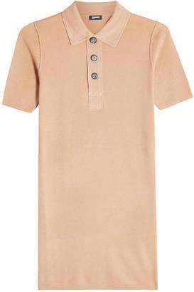 Jil Sander Navy Wool Polo Top