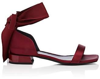 Lanvin Women's Satin Ankle-Tie Sandals - Wine