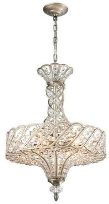ELK Lighting Cumbria 6 Light Chandelier in Aged Silver