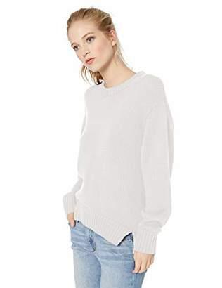Daily Ritual Women's 100% Cotton Chunky Long-Sleeve Crew Sweater