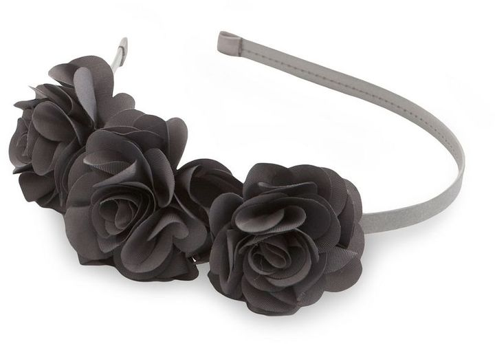 Natasha Accessories Triple-Rosette Skinny Headband