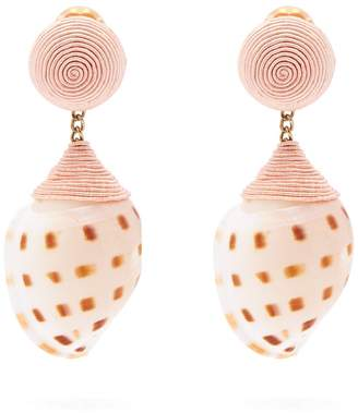 Ophelia REBECCA DE RAVENEL shell clip-on earrings