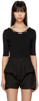 Carven Black Basic Knit Bodysuit