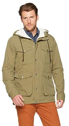 Wood Paper Company Men's Long Sleeve Hooded Fleece Lining Jacket
