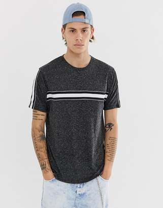 Asos Design DESIGN relaxed t-shirt in linen look fabric with contrast taping