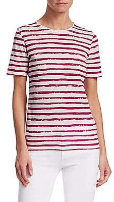 Majestic Filatures Men's Vintage Stripe Rolled Neck Tee