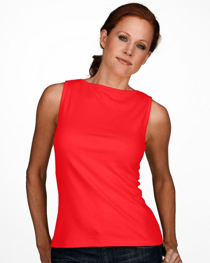 Westbound petites boatneck knit top