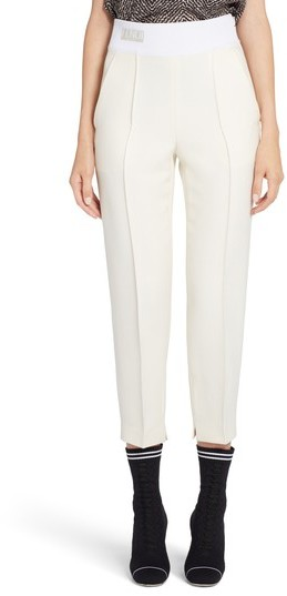 Women's Fendi Wool & Silk Gazar Crop Pants