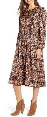 Hinge Jacquard Midi Dress