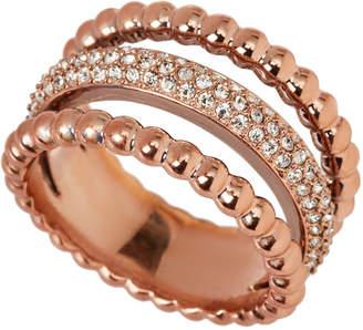 Swarovski Rose Gold-Tone Click Ring Size 8.25