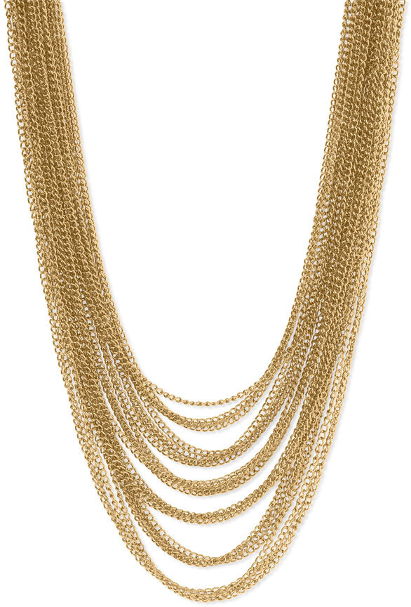 Cara Accessories Layered Chain Necklace