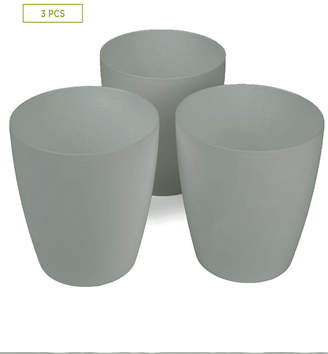 "Mind Reader 3 pc Multi Purpose Trash Bin Set for Bath, Counter Top, Silver - 8"""
