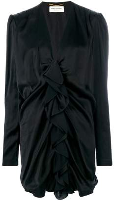 Saint Laurent ruched mini dress