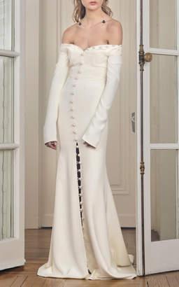 Sloane Danielle Frankel Bridal Off-The-Shoulder Gown