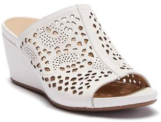 Naturalizer Charlotte Perforated Wedge Sandal - Wide Width Available