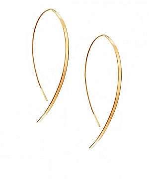 Lana Women's Hooked On Hoop Small 14K Yellow Gold Flat Hook Earrings