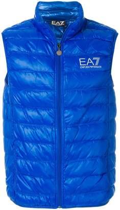 Emporio Armani Ea7 padded logo gilet