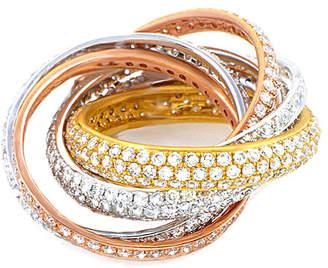 Diamond Select Cuts 18K Tri-Color 6.04 Ct. Tw. Diamond Ring