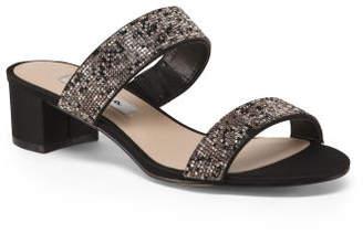 Two Band Dress Slide Sandals