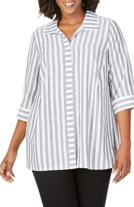 Foxcroft Skye Stripe Tunic Shirt