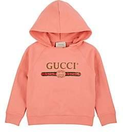 Gucci Kids' Logo-Print Cotton Hoodie - Pink