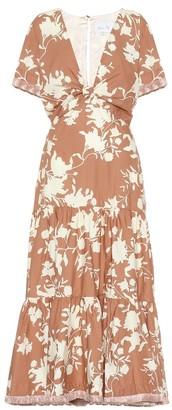 Johanna Ortiz Tea House cotton-blend midi dress