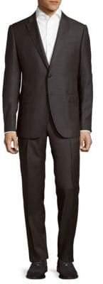 Armani Collezioni Wool Windowpane Suit