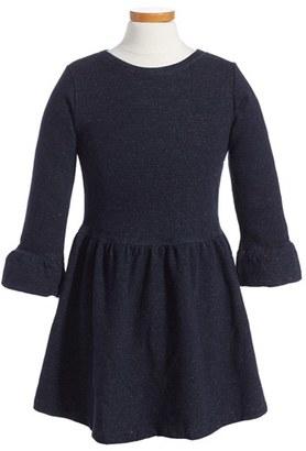 Girl's Peek London Metallic Fit & Flare Dress $48 thestylecure.com