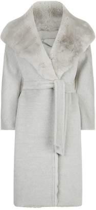 Max Mara Rabbit Fur Hooded Coat