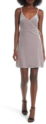 Women's Bp. Velvet Wrap Dress $49 thestylecure.com