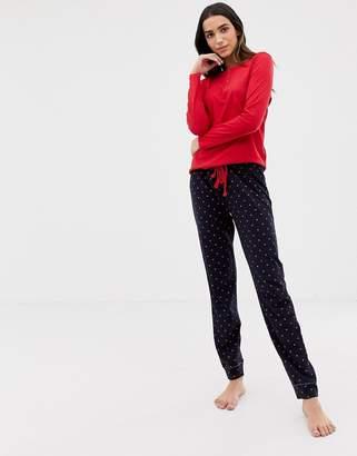 e2b0ec4651 Women secret jersey heart print pyjama bottoms in navy