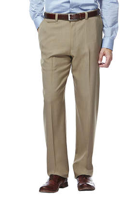 Haggar eCLo Stria Classic-Fit Flat-Front Dress Pants