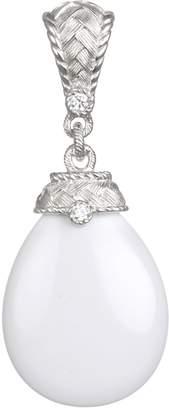 Judith Ripka Sterling Silver White Agate & Diamonique Enhance