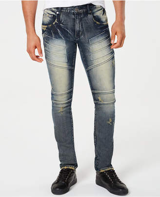ba5a0e93ade6d9 Reason Men Pacific Faded Ripped Moto Jeans