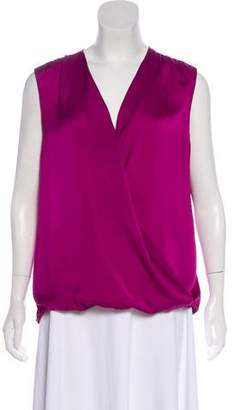 Vince Surplice Sleeveless Blouse