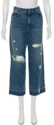 Stella McCartney Distressed Mid-Rise Jeans
