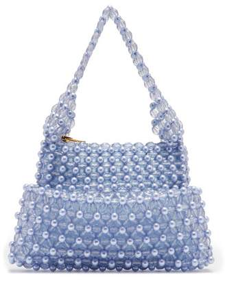 Shrimps - Quinn Faux Pearl And Bead Embellished Clutch - Womens - Blue