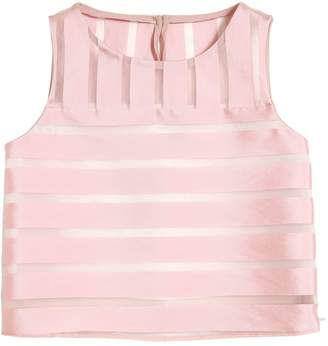 Milly Minis Organza Jacquard Top