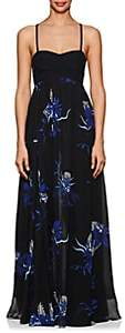 Proenza Schouler Women's Tropical-Floral-Print Silk Maxi Dress - Black