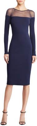 Ralph Lauren Long-Sleeve Illusion Body-Con Dress