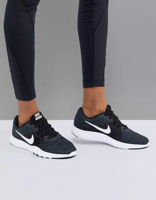 Nike Training Flex Sneakers In Black