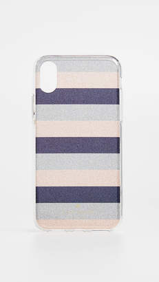 Kate Spade Glitter Stripe iPhone X Case