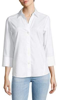 Foxcroft Flamingo Solid Cotton Shirt
