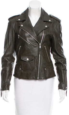 TheoryTheory Leather Zip-Accented Jacket