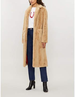 Sandro Lambe faux-fur teddy coat