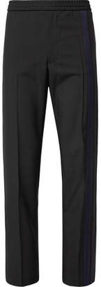 Valentino Striped Wool And Mohair-Blend Drawstring Trousers