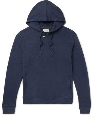 Oliver Spencer Loungewear Ribbed Cotton-Jersey Hoodie