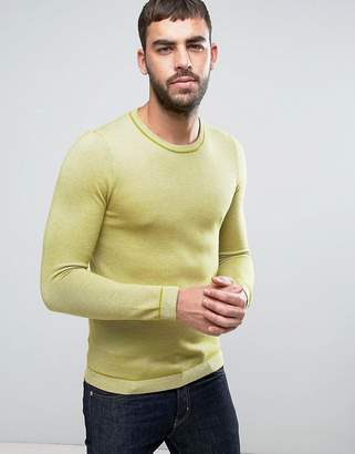 Ted Baker Long Sleeve Textured Crew Neck Knit